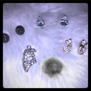 CZ Earrings/Rhinestone/Cryst. Earrings/&Pendant